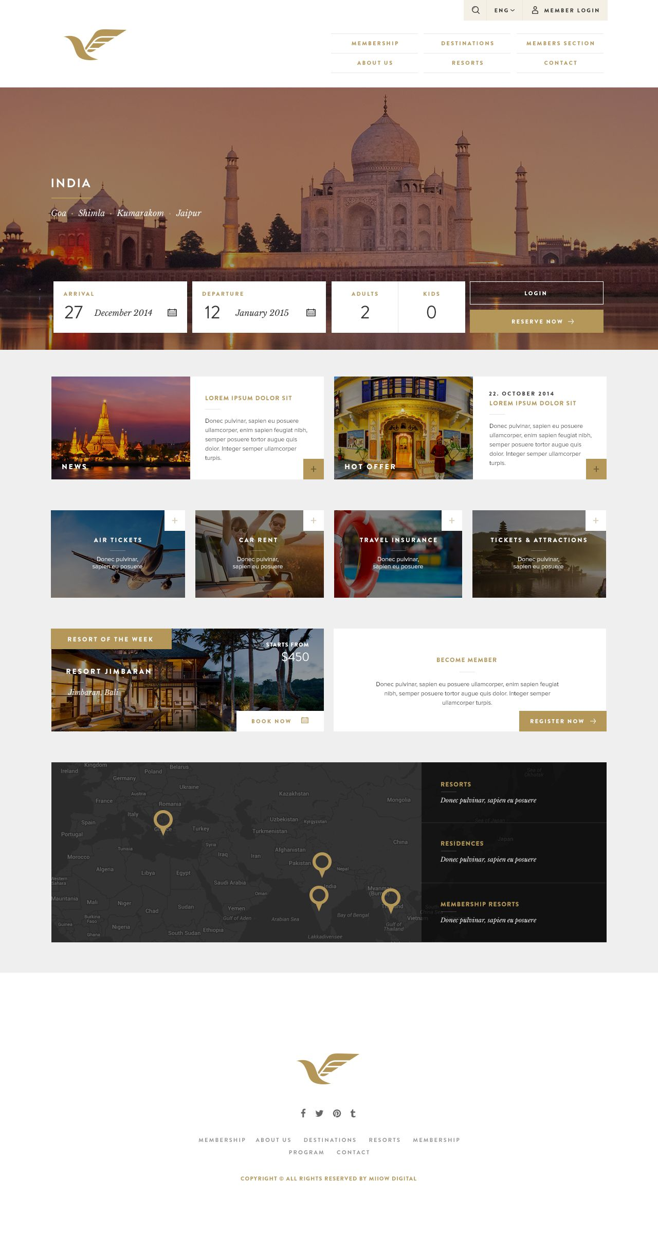 Free Psd Travel Hotel Booking Website Beautiful Web Design Web