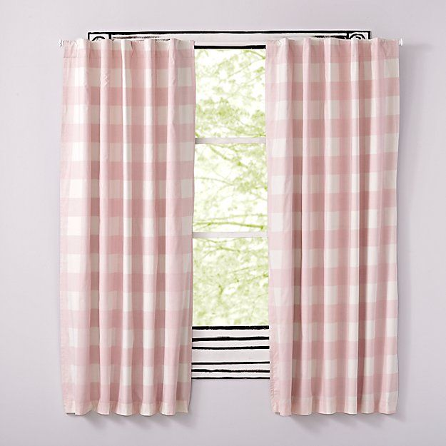 Buffalo Check Pink 63 Blackout Curtain