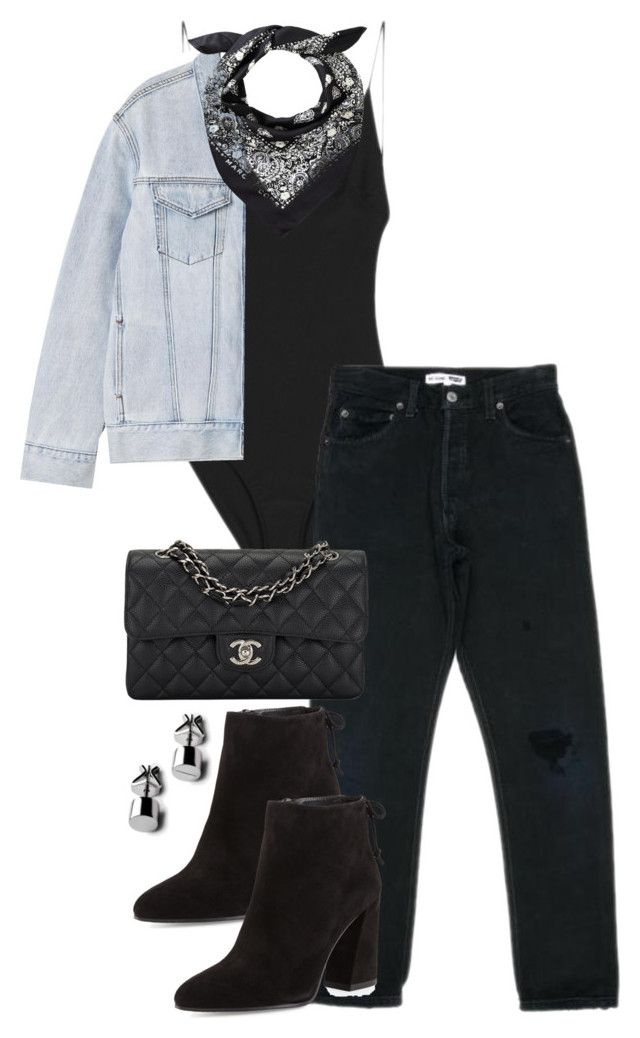 """""""Untitled #3974"""" by theeuropeancloset ❤ liked on Polyvore featuring Dion Lee, Chanel, Stuart Weitzman and P & Lot"""
