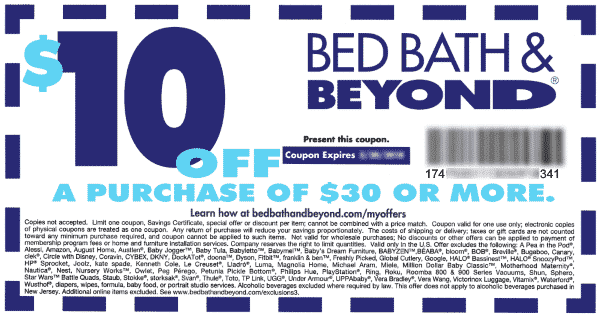 Bed Bath And Beyond 10 Off 30 Bed Bath And Beyond Bath And Beyond Coupon 10 Things
