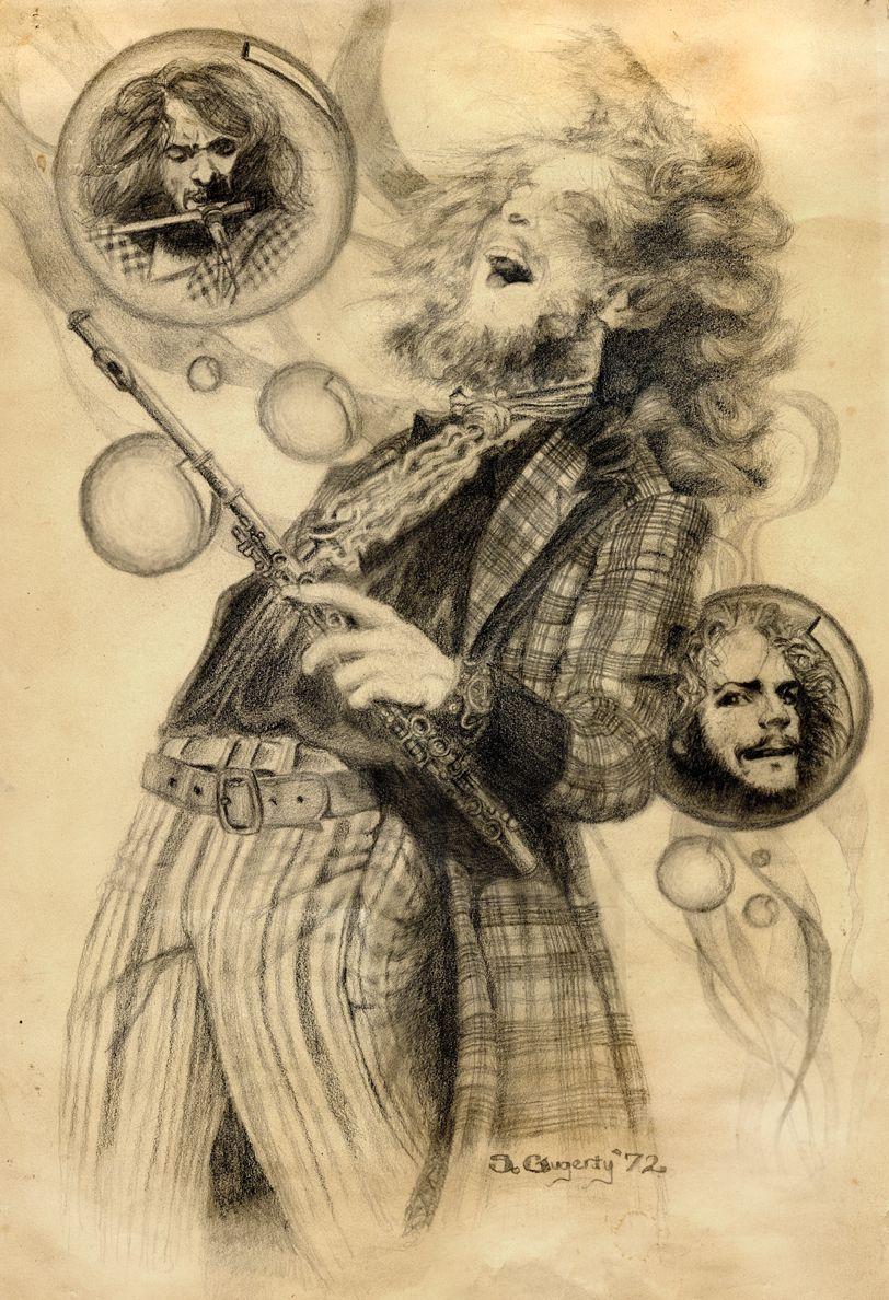 Watercolor Ideas Jethro Tull