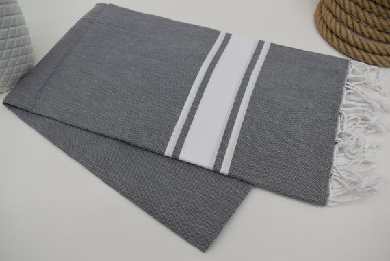 Dark Gray Towel Kitchen Towel Bath Towel Turkey Towel Peshtemal