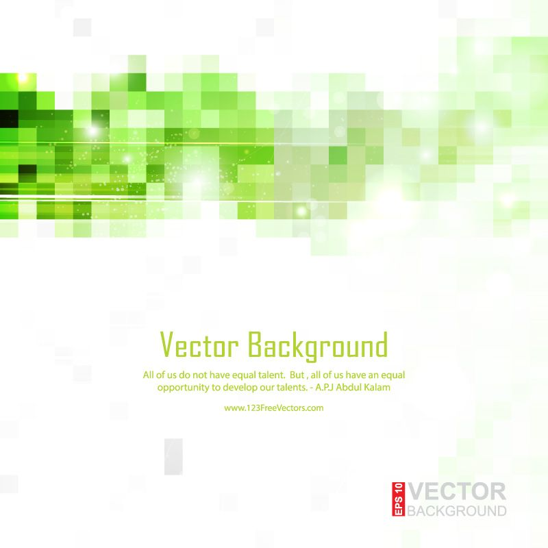 Light Green White Square Background Vector Free Vector