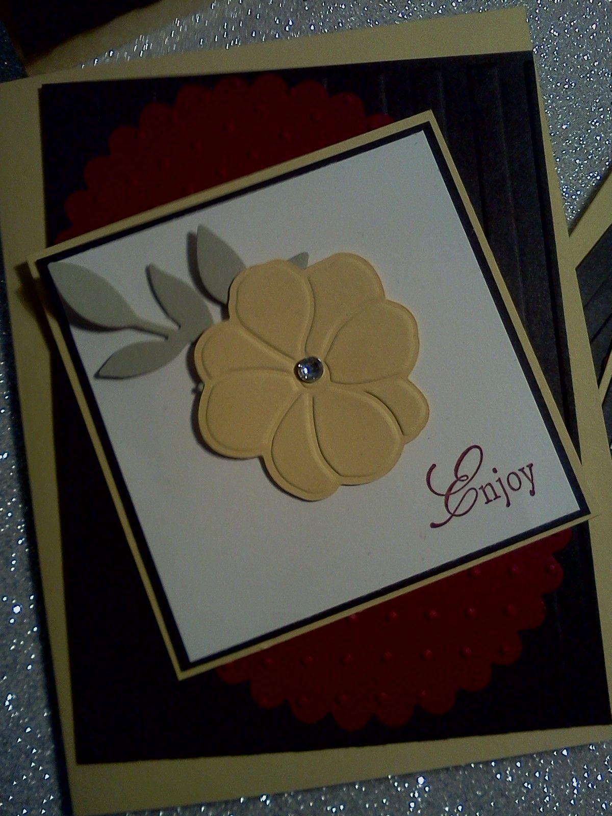 Yellow flower birthday card stampinu up pinterest flower