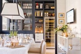 A Functional English style kitchen pantry dining