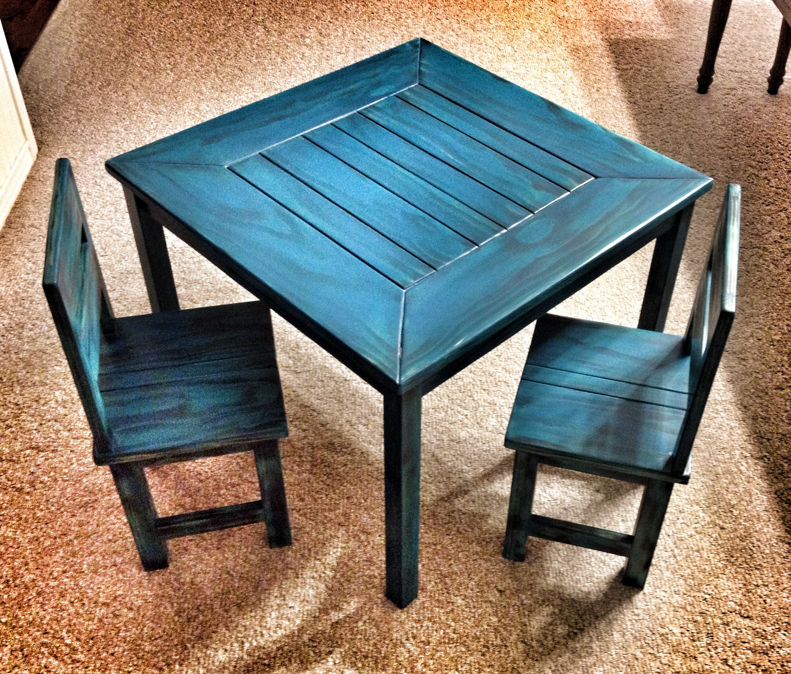 Kreg Jig kids table wood Pinterest