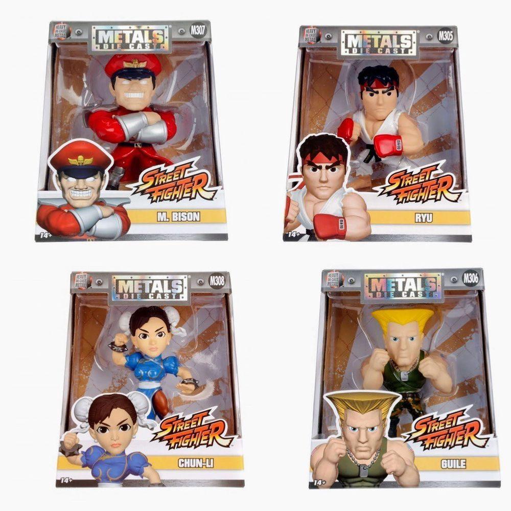 Jada Metals Die Cast 4 Street Fighter Figures Capcom Bison Ryu