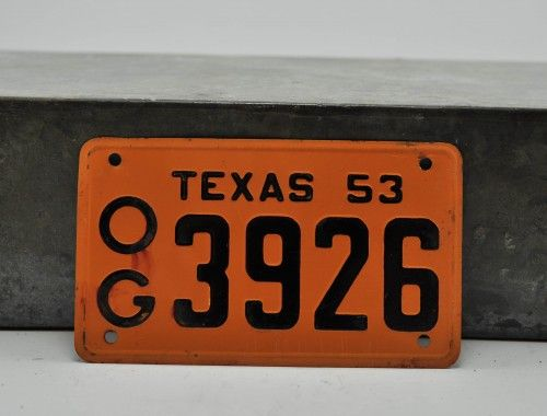 Texas 1953 Bicycle License Plate 5 Available At Kraftykash Net