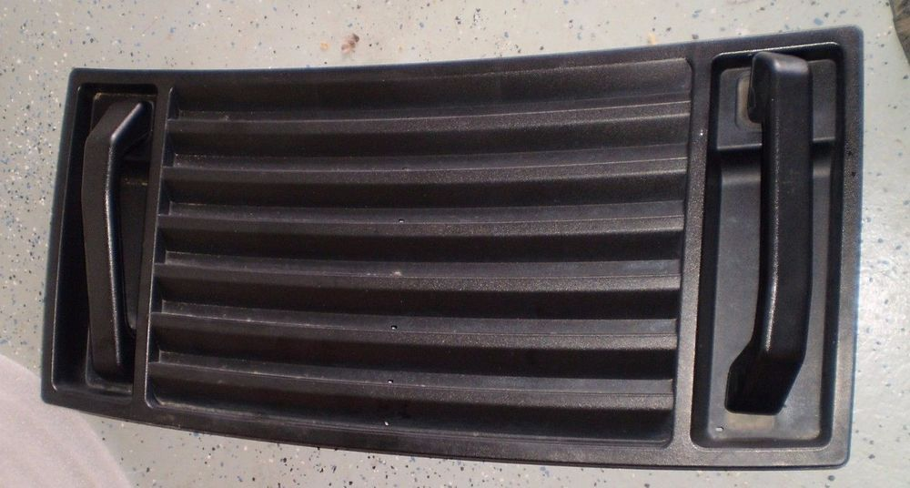 Engine Hood Grille Vent Louver Black With Handles Oem Hummer H2 2003 09 Hummer Hummer H2 Hummer Grilles