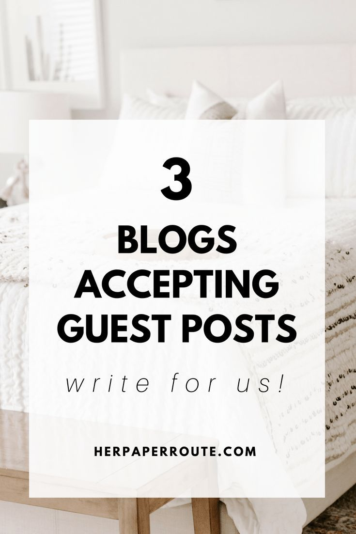Blogs Accepting Guest Posts! Write For Us! | Great Bloggers