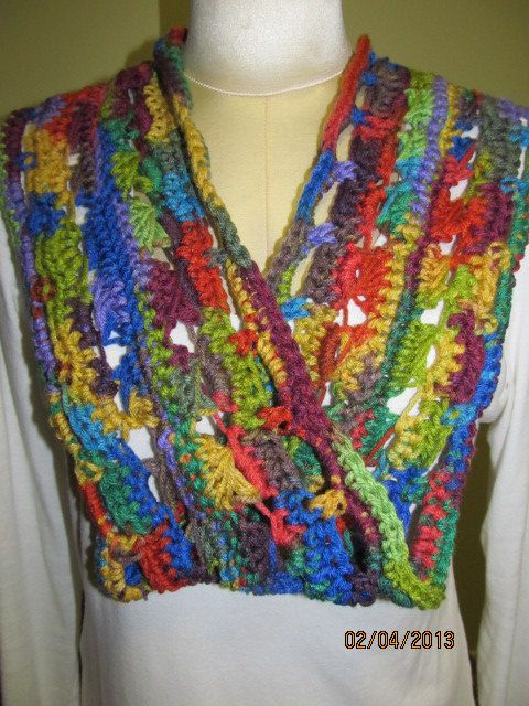Crochet Broomstick Lace Infinity/Moebius Scarf Made by rlittleton ...
