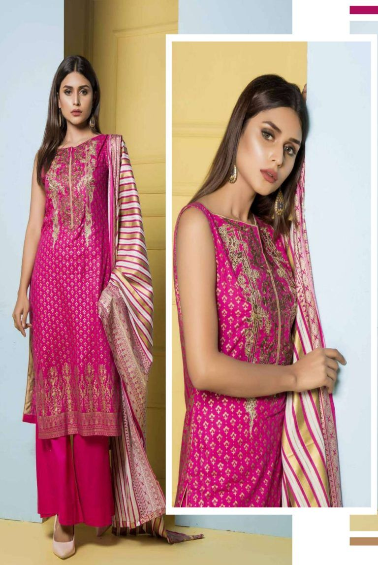2ab5ec5ae0 Rangreza Embroidered Collection Cotton With Embroidery Suit 03a ...
