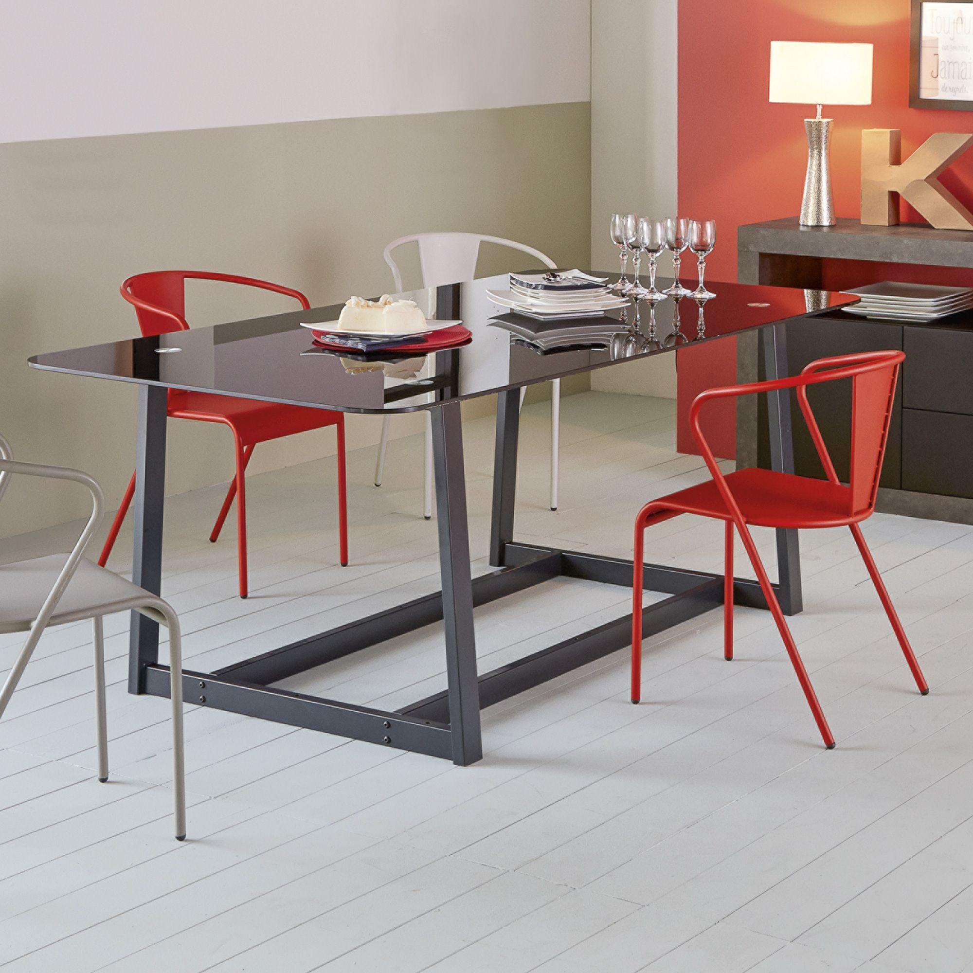 Chaise Rouge En Acier Design Akaros Chaises Tables Chaises
