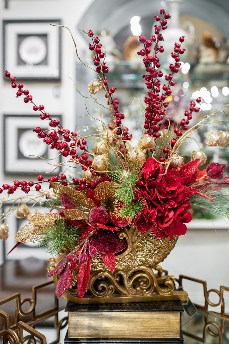 Classic Holiday Home Decor Christmas Floral Arrangements Holiday Decor Christmas Classic Christmas Decorations