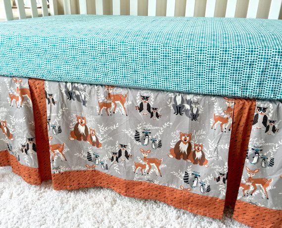 Crib Skirt Forest Animals Crib Skirt Tailored by RitzyBabyOriginal