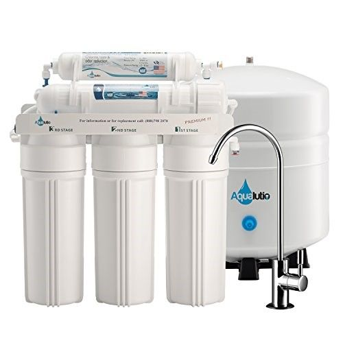 Aqualutio Premium 5 Stage Reverse Osmosis Filtration Home System For Clean And Healthy Drinking Water Filter 75 Gpd Ro Under