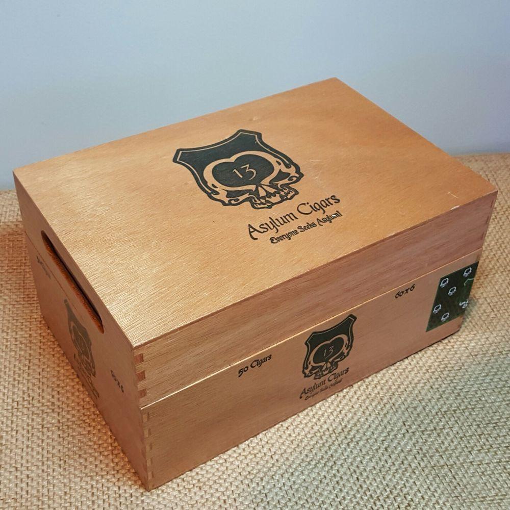 #AsylumTheOgreCigarBox #SkullStashBox #GothStorage #AlteredArtSupplies #eBay #MoMoMax.01 #CigarBoxCollector