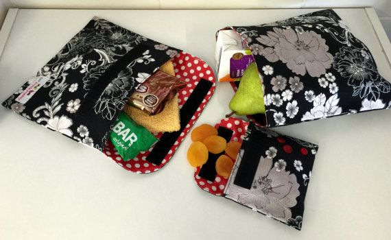 Awesome reusable snack bag pattern with different sizes and closures!