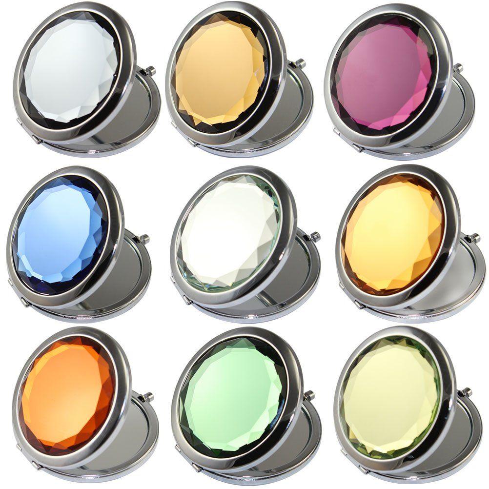 KOLIGHT Purple Portable Foldable Pocket Metal Makeup
