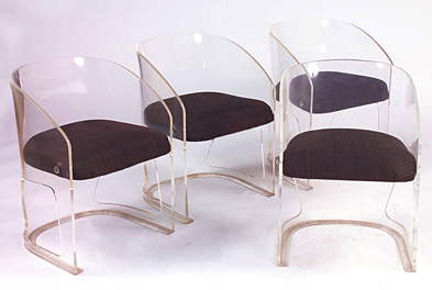 1970s Plexiglass Lotus Chair Acrylic Furniture Resin Design Contemporary Armchair