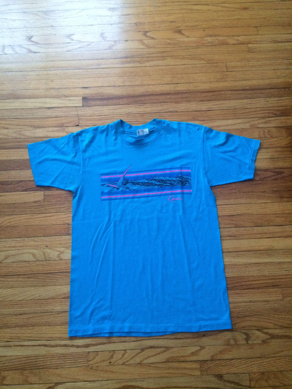 f4412a16efaf7 Vintage Kauai Hawaii Ocean Wave Soft Hanes 50-50 T-Shirt (80's ...