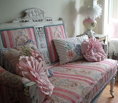 vintage french sofa | items i love | Shabby chic pink ...