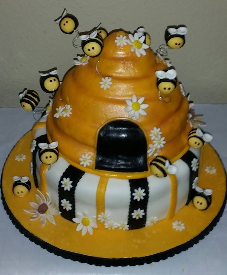 What Will It Bee Cake Baby Shower Reveal Hive