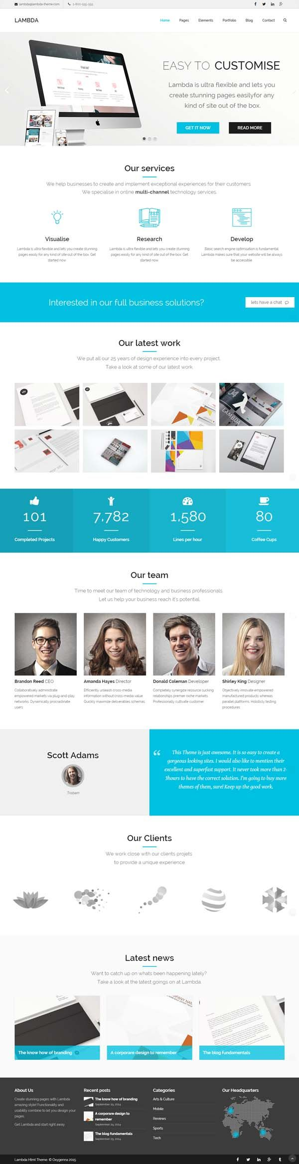 Lambda - Multi Purpose Bootstrap HTML Template #HTML5templates ...