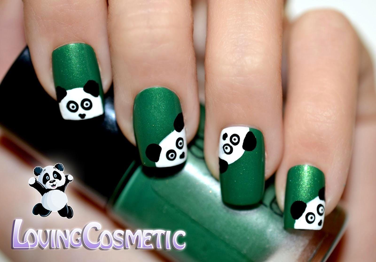 Contemporáneo Uñas Panda Ideas Ornamento Elaboración Festooning ...