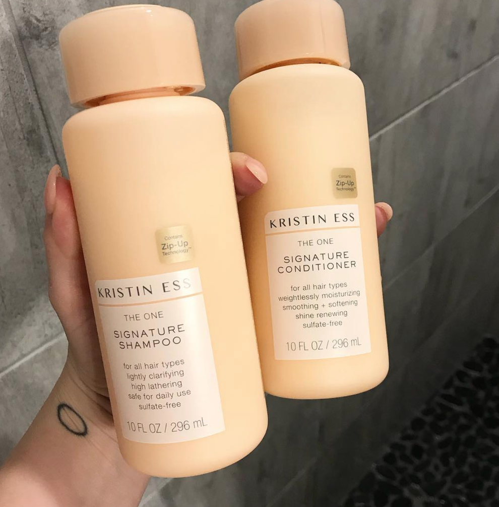 Kristin Ess Shampoo, Conditioner, and Instant Lift Thickening Spray Here Are The Holy Grail Of Products That Make Thin Hair Look Super Thick