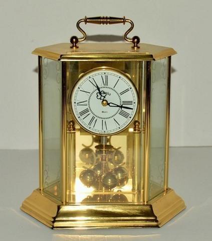 Bulova Quartz Carriage Gold Tone Mantel Clock Mantel Clock Clock Vintage Clock