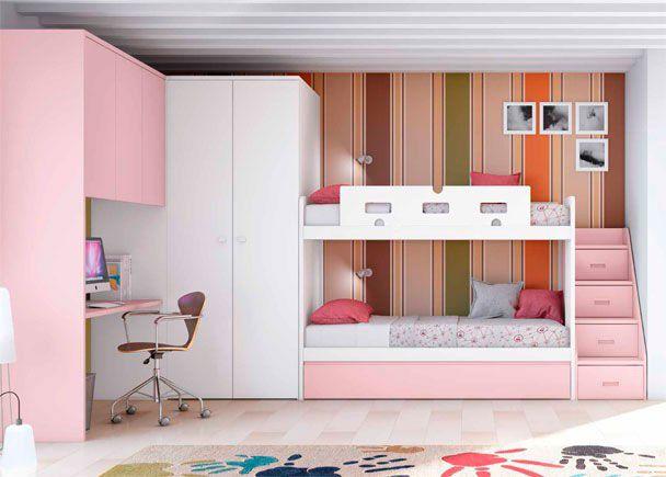 Habitación Infantil Con Litera De 3 Camas Habitaciones Infantiles Dormitorios Habitaciones Juveniles