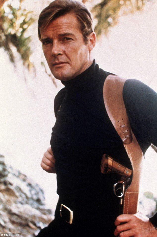The making of a super spy: Sir Roger strapped on the iconic secret agent's gun for the first time in 1973's Live And Let Die and went on to become the longest running Bond with  seven films over 12 years to his credit