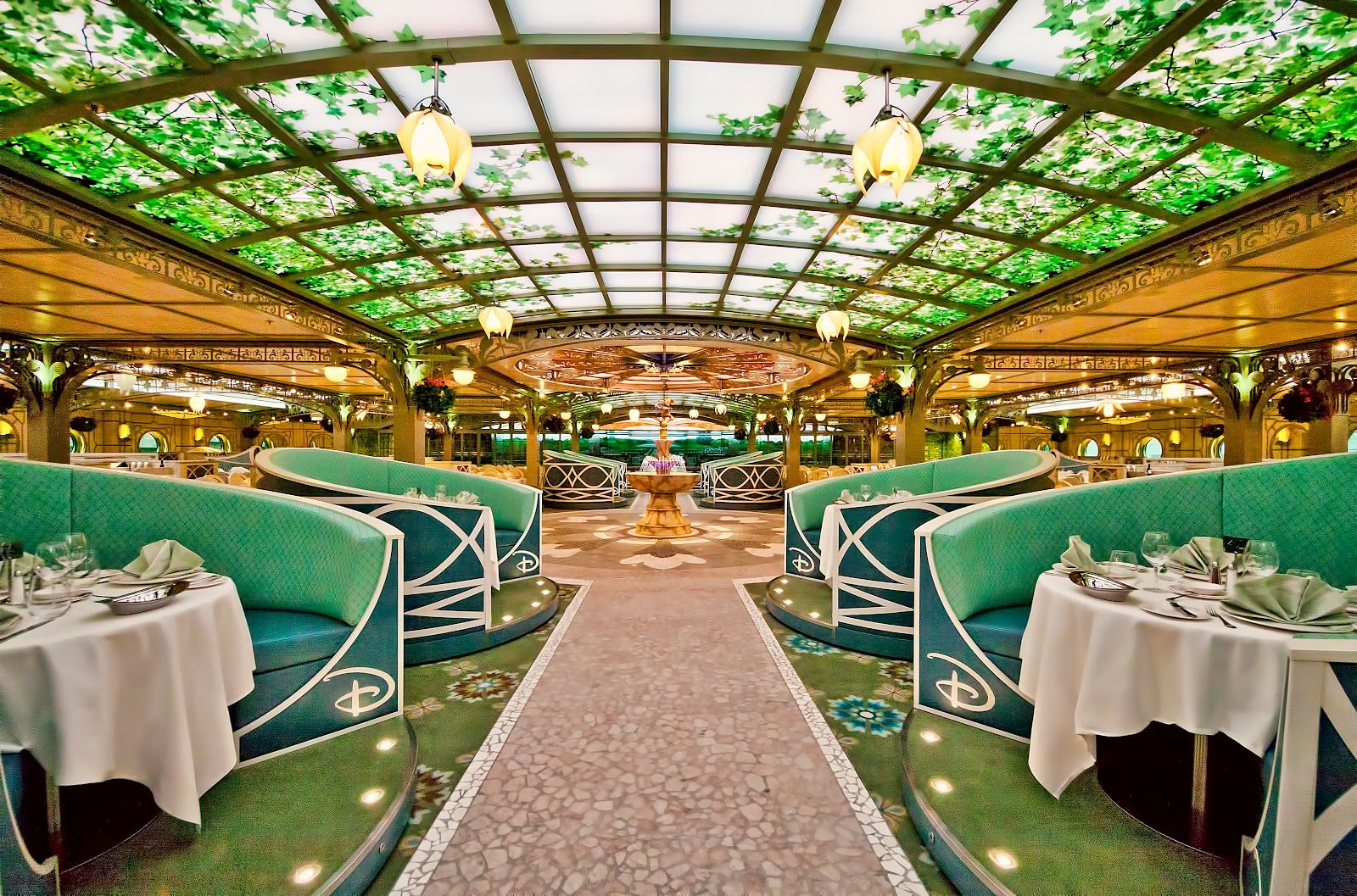 Enchanted Garden Restaurant On The Disney Fantasy Disney
