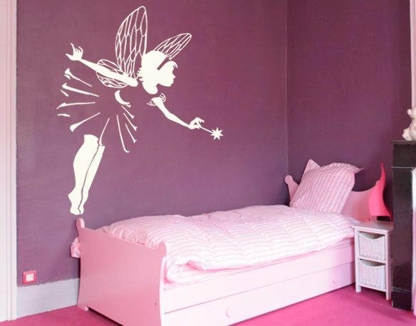Chambre fee d co pinterest f e chambres et peinture for Lit princesse adulte