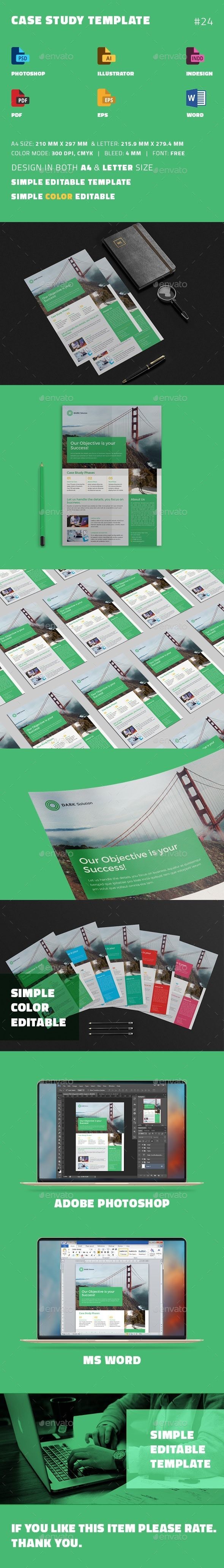 Case Study Template  Flyer  Case Study Print Templates And