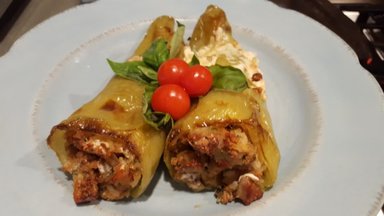 Italian Stuffed Cubanelle Peppers Recipe Stuffed Peppers Stuffed Cubanelle Pepper Recipe Cubanelle Pepper