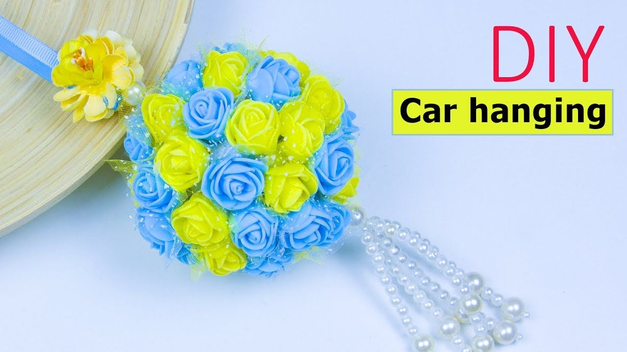 How to make beautiful flower car hanging at home diy project for how to make beautiful flower car hanging at home diy project for your izmirmasajfo