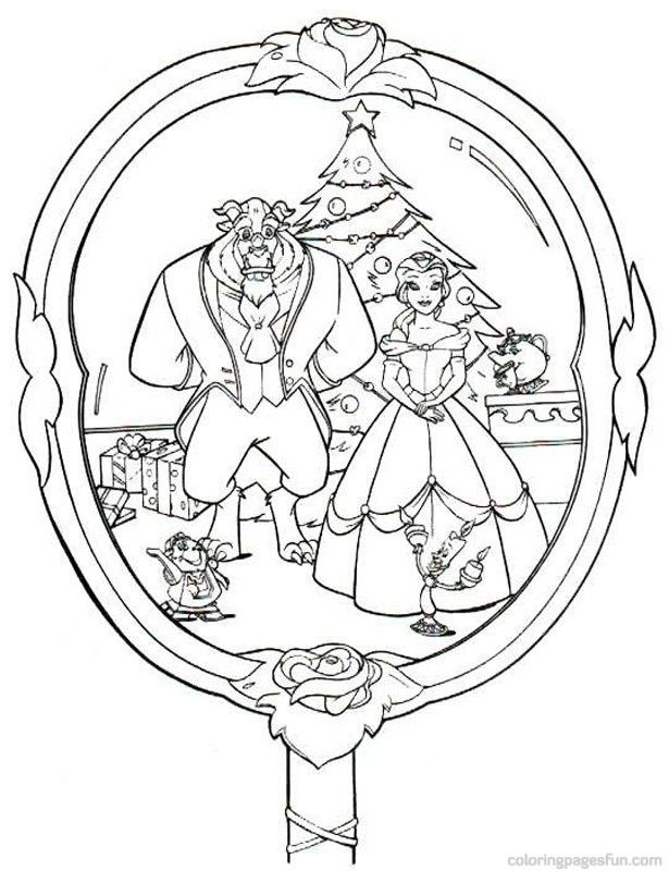 Christmas Disney Coloring Pages 44   kerst mandalas   Pinterest