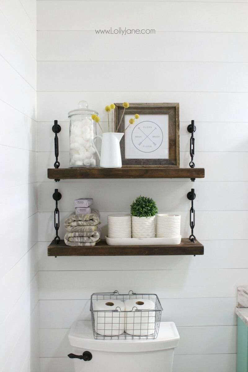 26 Farmhouse Shelf Decor Ideas that are both Functional and Gorgeous ...