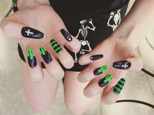 Creepy Coffins Horror Nails Goth Nails Halloween Nail Designs