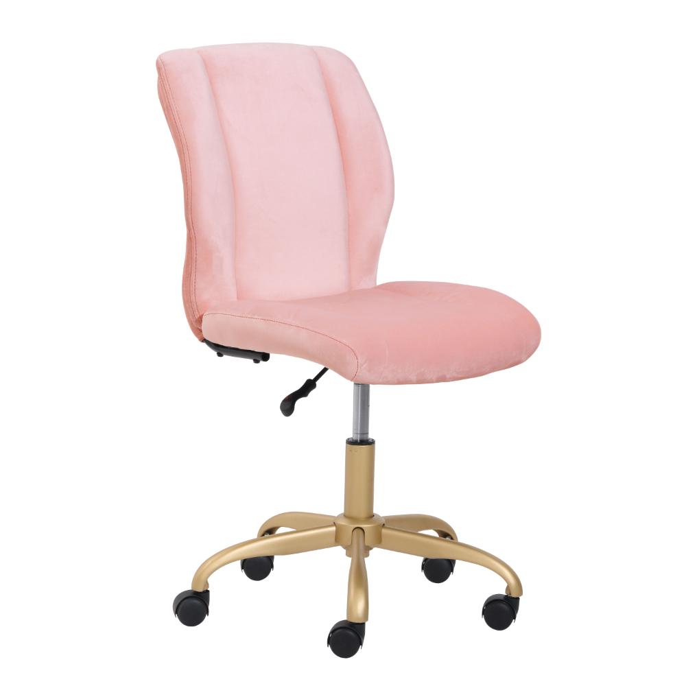 Mainstays Plush Velvet Office Chair Pearl Blush Walmart Com In 2020 Velvet Office Chair Pink Office Chair Pink Desk Chair
