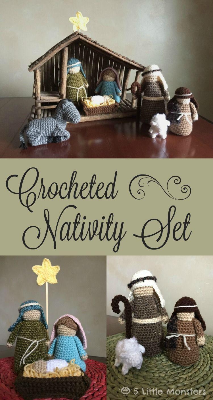Crocheted Nativity Set Gehäkelt Pinterest Häkeln Weihnachten