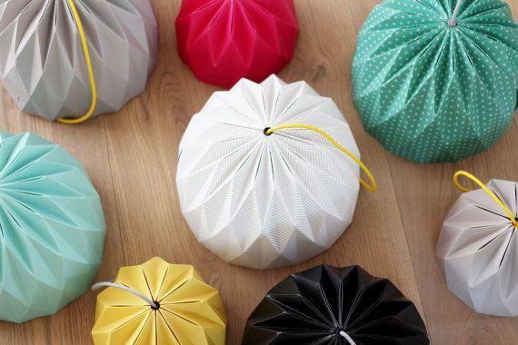 Grande Origami paralume colorata appesa paralume paralume in