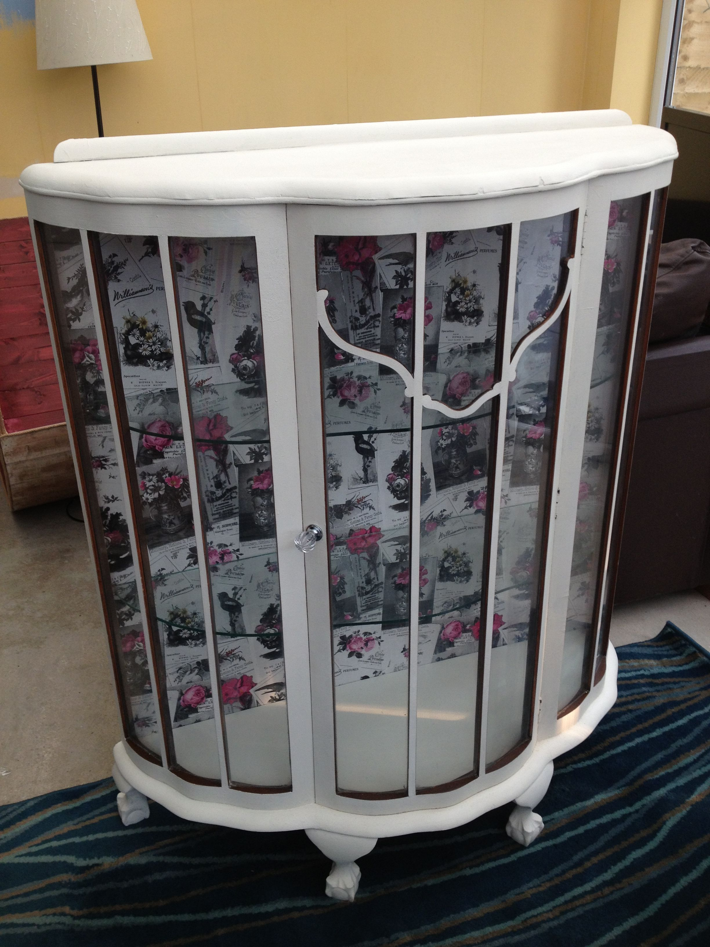 Vintage, retro upcycled glass display cabinet | Glass display ...