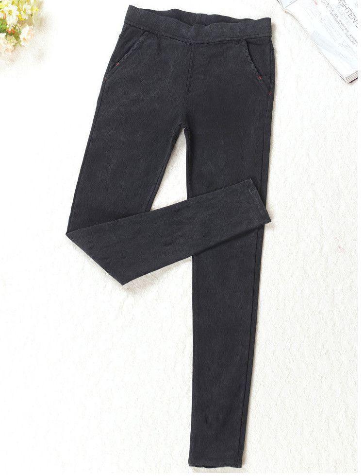 Autumn New Korean Fall Womens Scratch Silm Skinny Jeans Leggings Pencil Pants Elastic Denim Leggings Jeans Jeggings Women