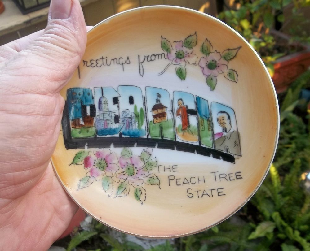 Vintage greetings from georgia small decorative plate peach tree vintage greetings from georgia small decorative plate peach tree state m4hsunfo