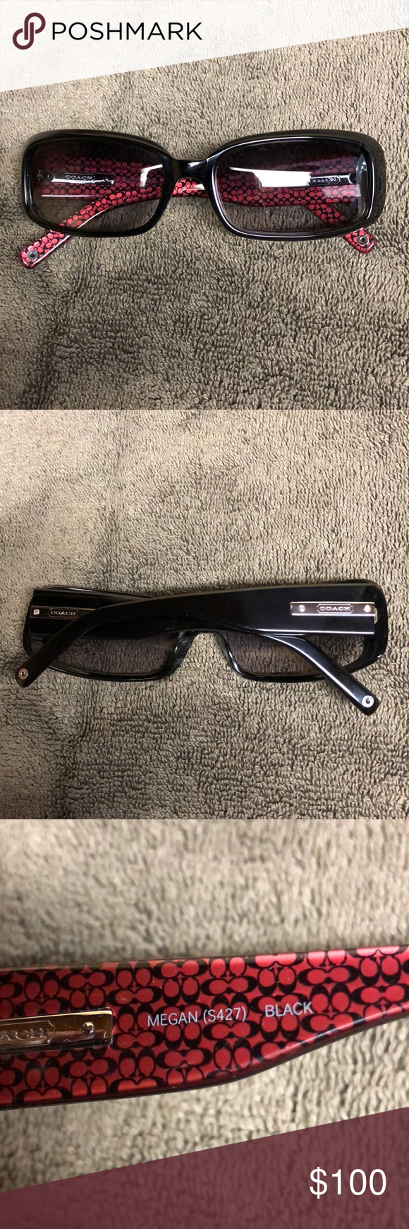 053d4a60ee COACH Megan sunglasses. New w signature case Brand new never worn authentic Coach  sunglasses. Style is Megan. See photos. Comes with the original signature  ...