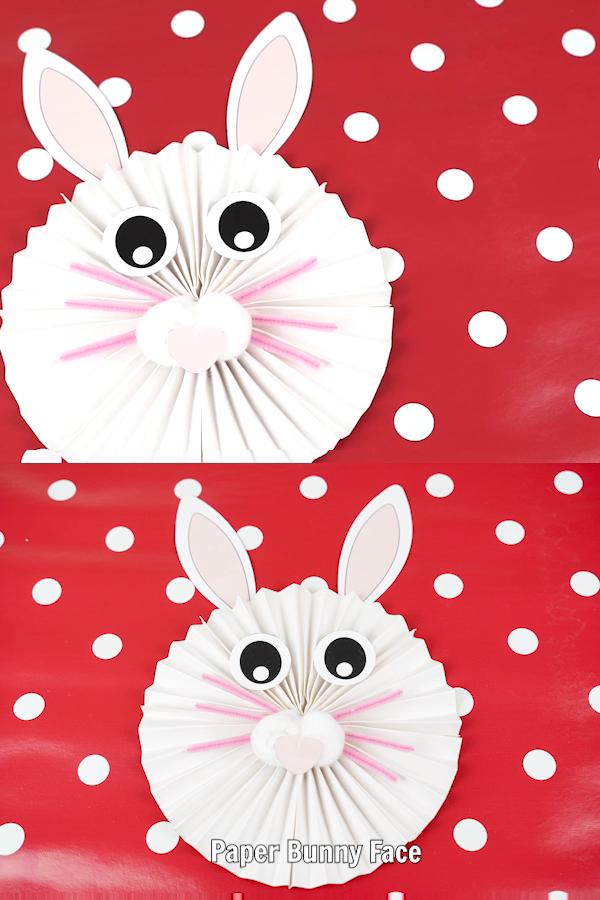 Adorable DIY Paper Fan Bunny Wall Art Decoration – Free Printable
