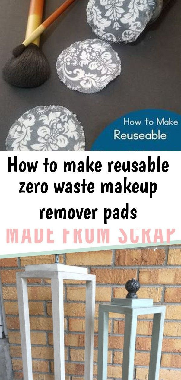 How to make reusable zero waste makeup remover pads